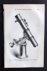 Intellectual Observer 1866 Antique Print. Silvered Glass Mirror Telescope